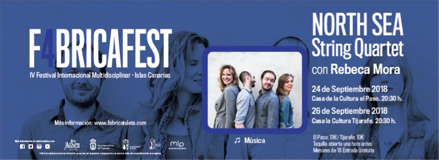 North Sea String Quartet con Rebeca Mora (26 de septiembre)