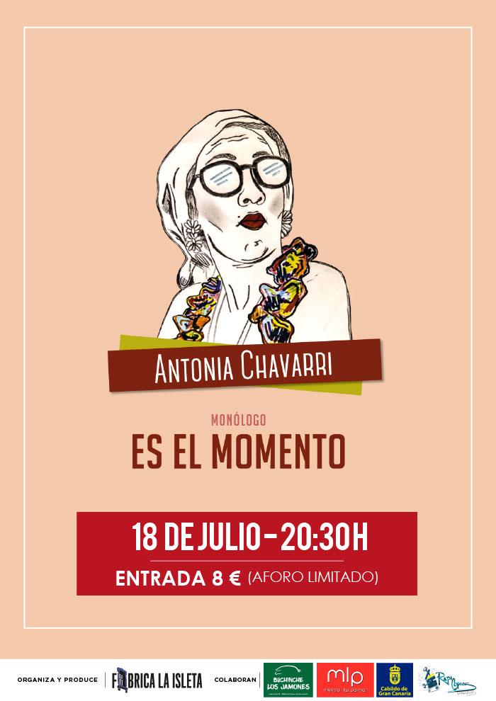 """Antonia Chavarri """"ES EL MOMENTO"""" Por Jennifer Artiles"""