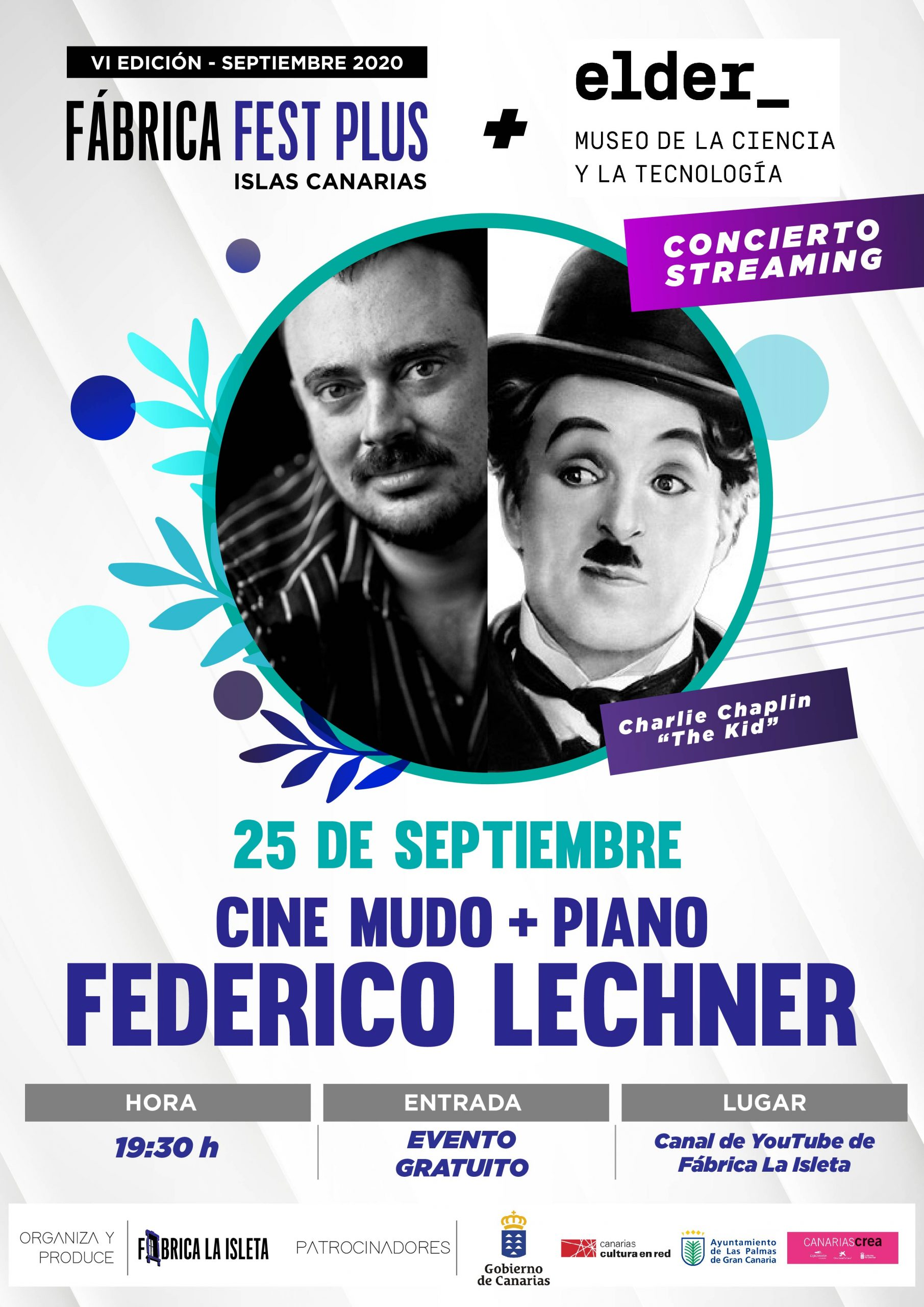 Cine Mudo + Piano con Federico Lechner (Streaming)