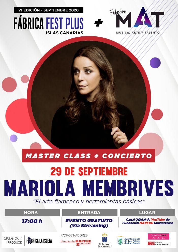 Mariola Membrives – Master Class + Concierto (Streaming)