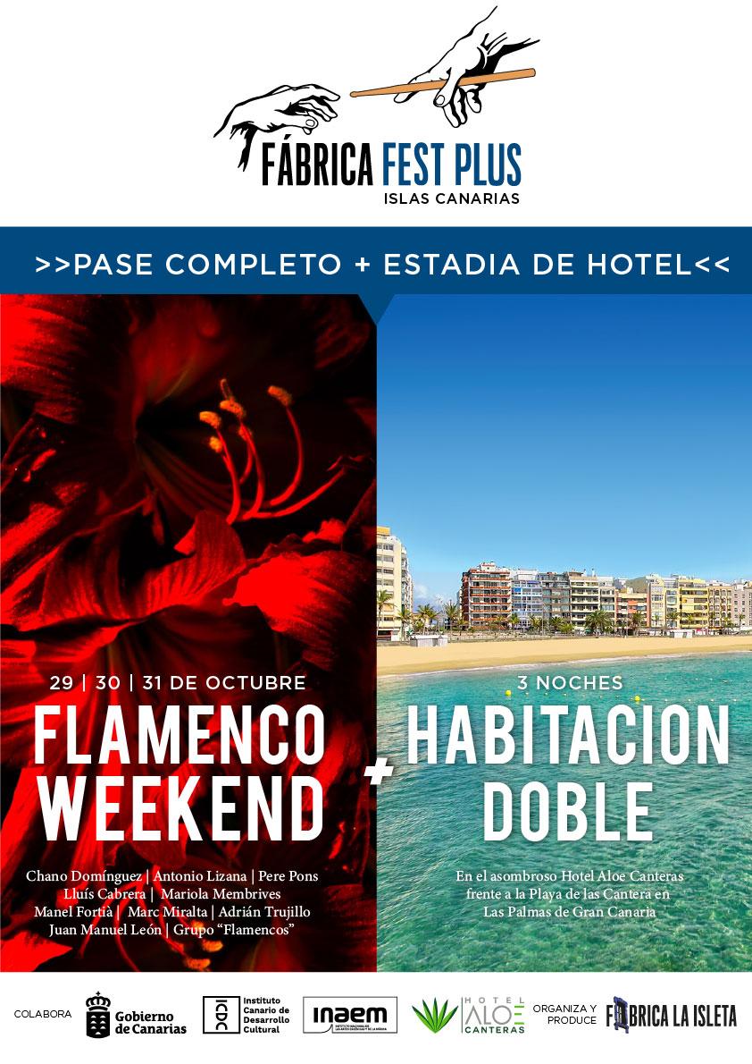 Pase Completo Flamenco Weekend + Hotel (Habitación Doble)