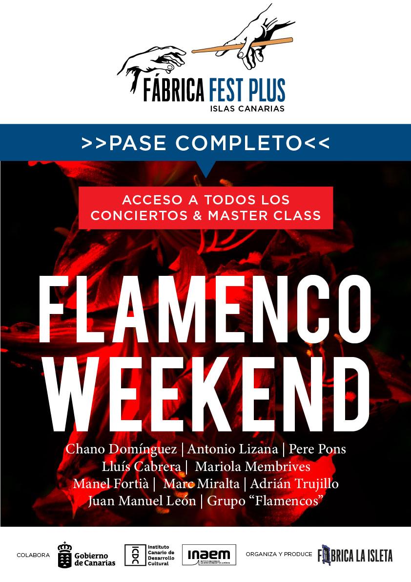 Pase Completo al Flamenco Weekend 29-30-31 de Octubre